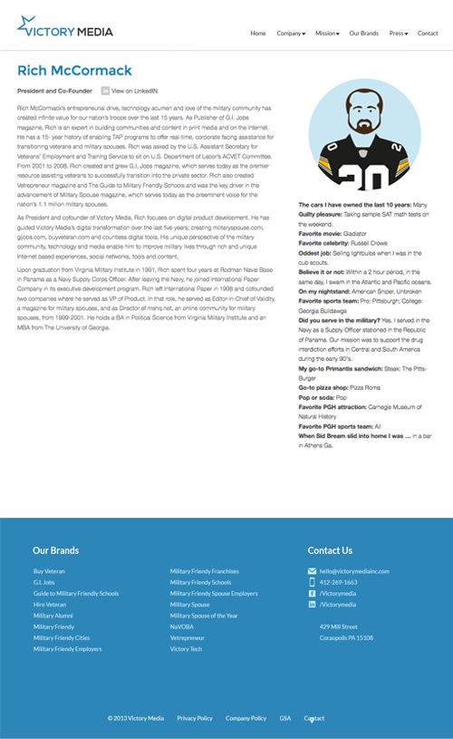 VMI_Website_Profile